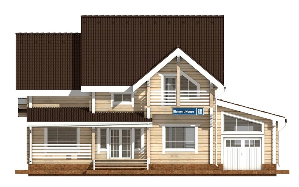 Фото #6: деревянный дом ПДБ-36 из клееного бруса купить за 14352000 (цена «Под ключ»)