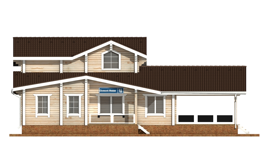 Фото #6: деревянный дом ПДБ-61 из клееного бруса купить за 10276000 (цена «Под ключ»)
