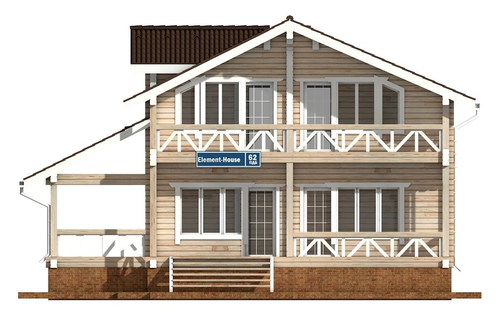 Фото #6: деревянный дом ПДБ-62 из клееного бруса купить за 10084000 (цена «Под ключ»)