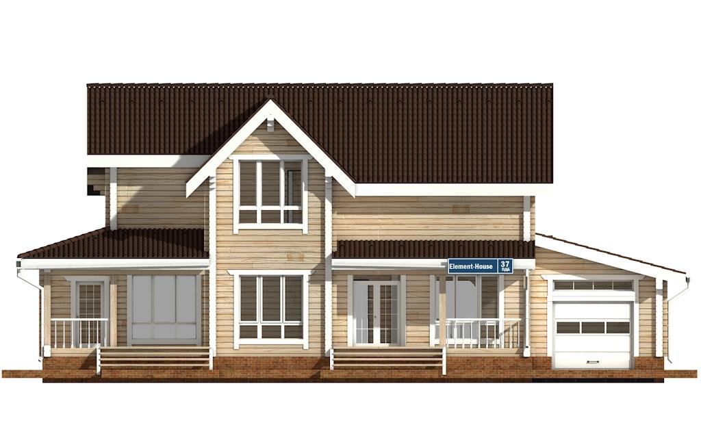 Фото #6: деревянный дом ПДБ-37 из клееного бруса купить за 14135000 (цена «Под ключ»)