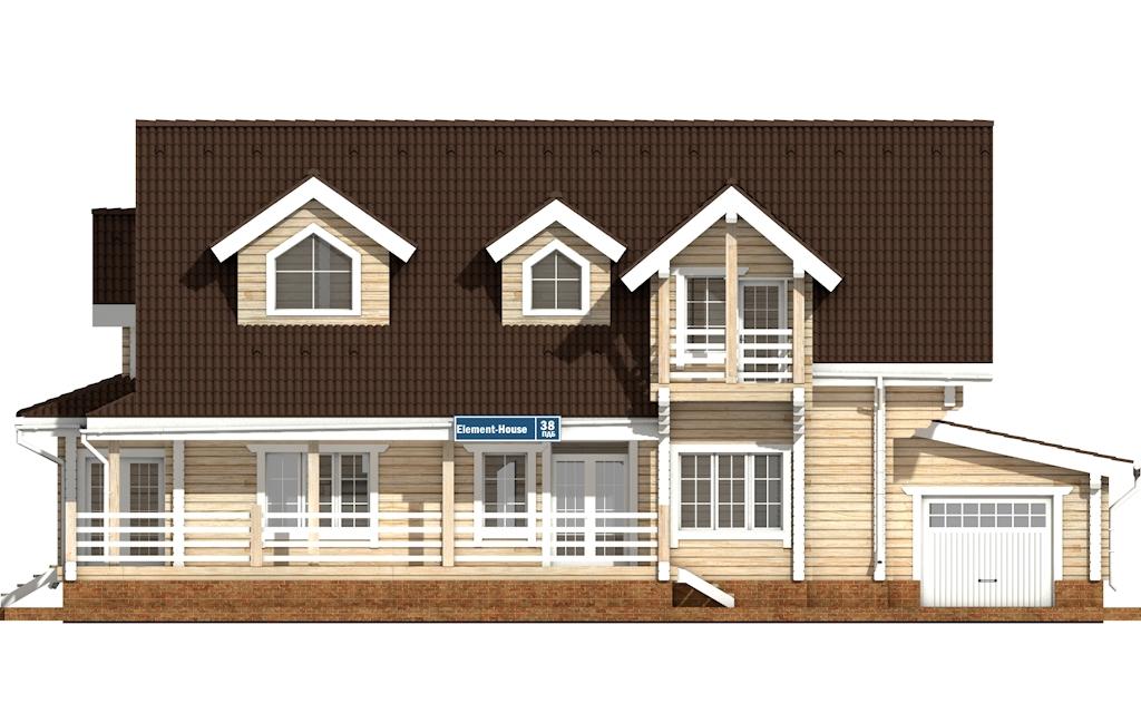 Фото #6: деревянный дом ПДБ-38 из клееного бруса купить за 15922000 (цена «Под ключ»)