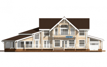 Фото #7: деревянный дом ПДБ-39 из клееного бруса купить за 15784000 (цена «Под ключ»)