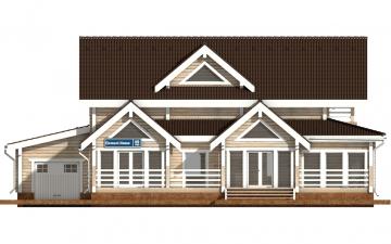 Фото #7: деревянный дом ПДБ-40 из клееного бруса купить за 13232000 (цена «Под ключ»)