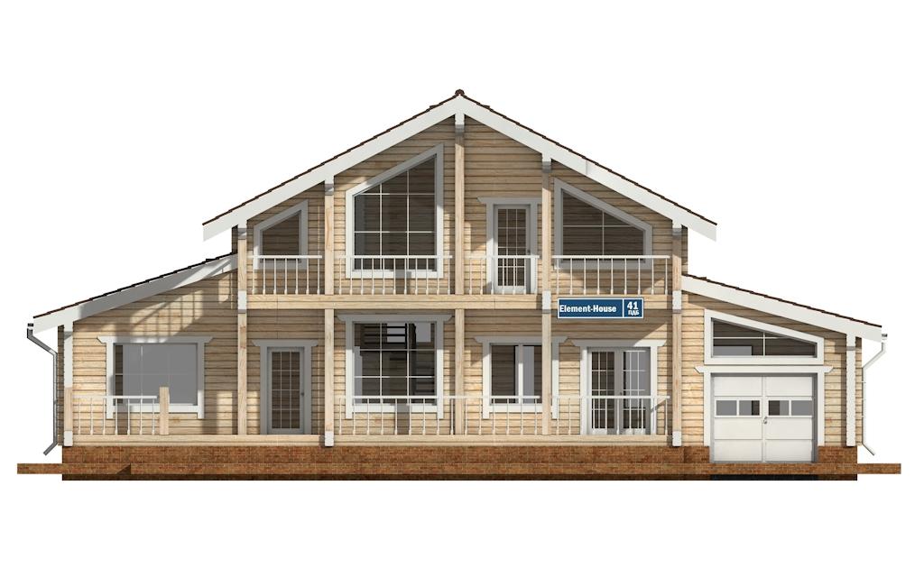 Фото #6: деревянный дом ПДБ-41 из клееного бруса купить за 12685000 (цена «Под ключ»)