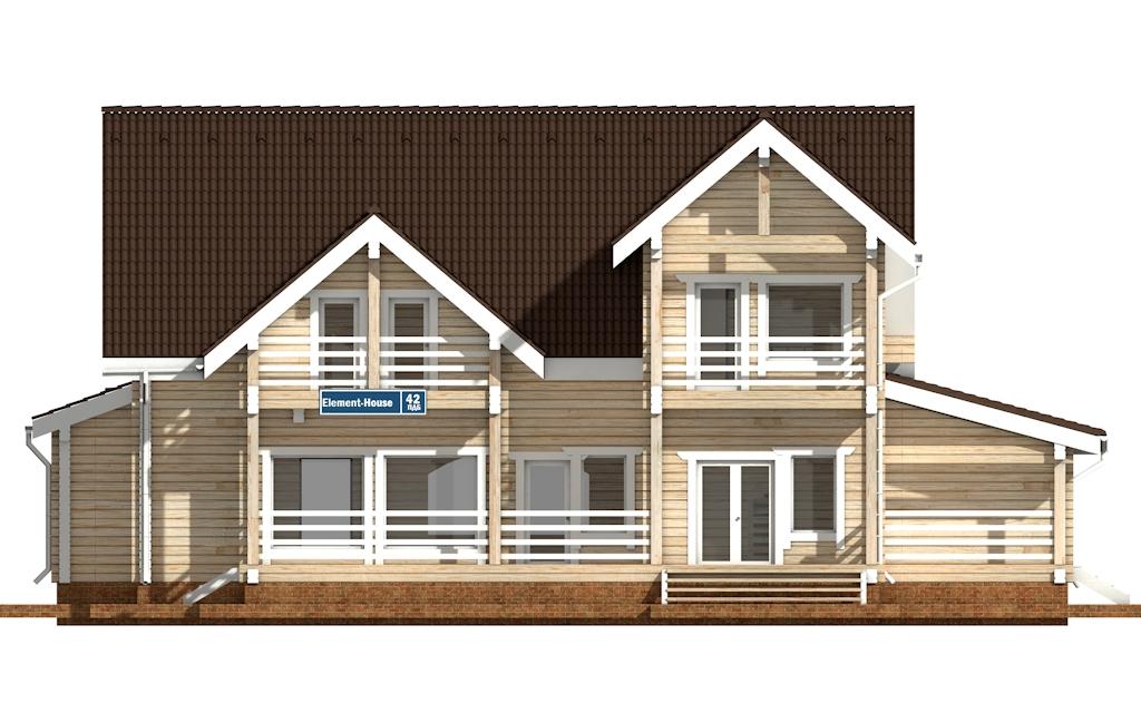 Фото #6: деревянный дом ПДБ-42 из клееного бруса купить за 17628000 (цена «Под ключ»)