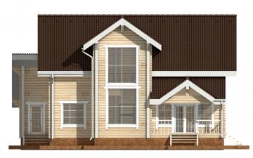Фото #8: деревянный дом ПДБ-34 из клееного бруса купить за 13915000 (цена «Под ключ»)