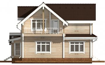Фото #8: деревянный дом ПДБ-43 из клееного бруса купить за 14446000 (цена «Под ключ»)