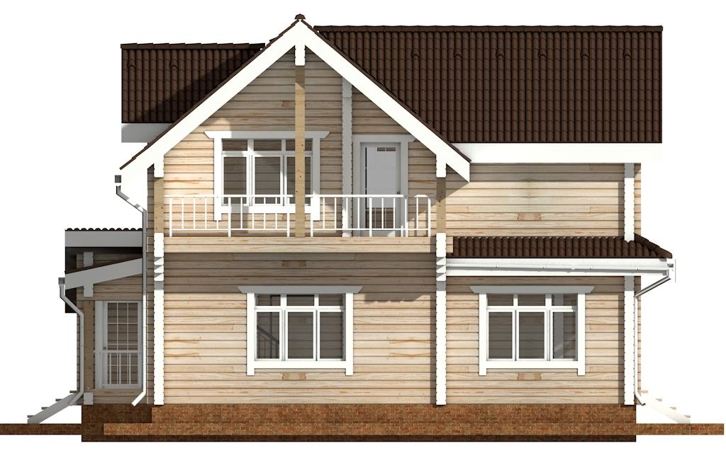 Фото #7: деревянный дом ПДБ-43 из клееного бруса купить за 14446000 (цена «Под ключ»)