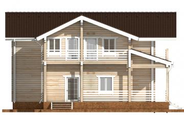 Фото #8: деревянный дом ПДБ-44 из клееного бруса купить за 14702000 (цена «Под ключ»)