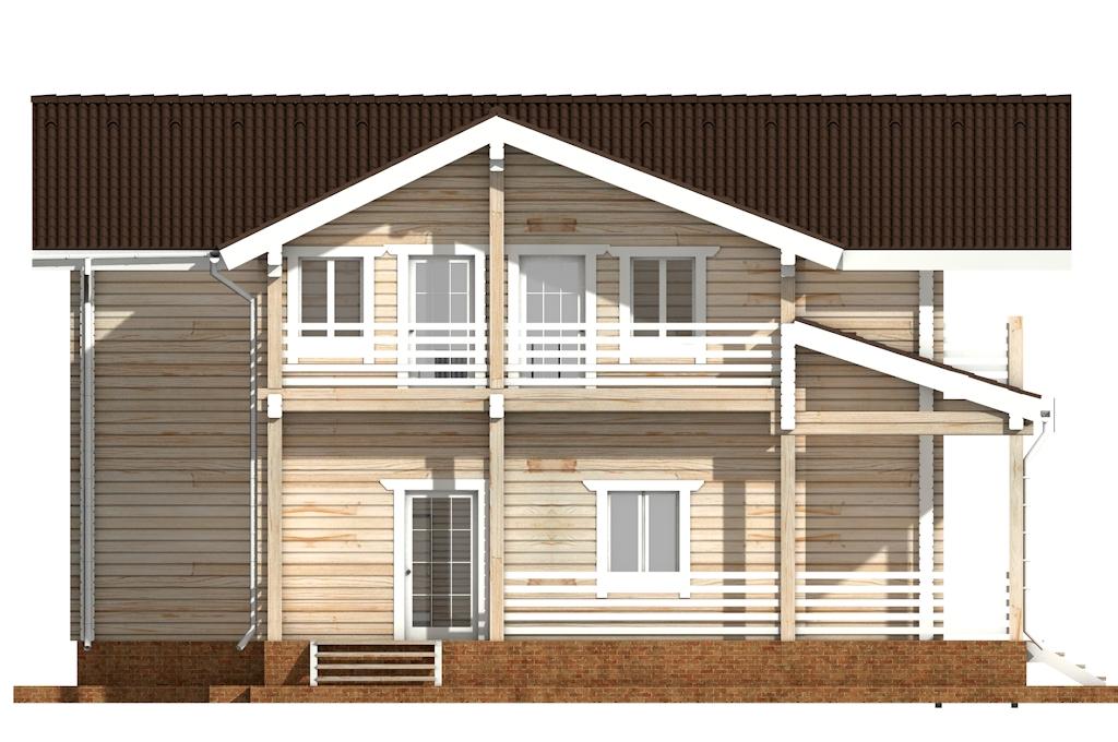 Фото #7: деревянный дом ПДБ-44 из клееного бруса купить за 14702000 (цена «Под ключ»)