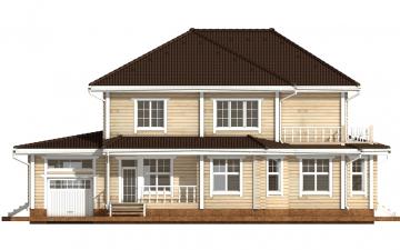 Фото #8: деревянный дом ПДБ-46 из клееного бруса купить за 17082000 (цена «Под ключ»)