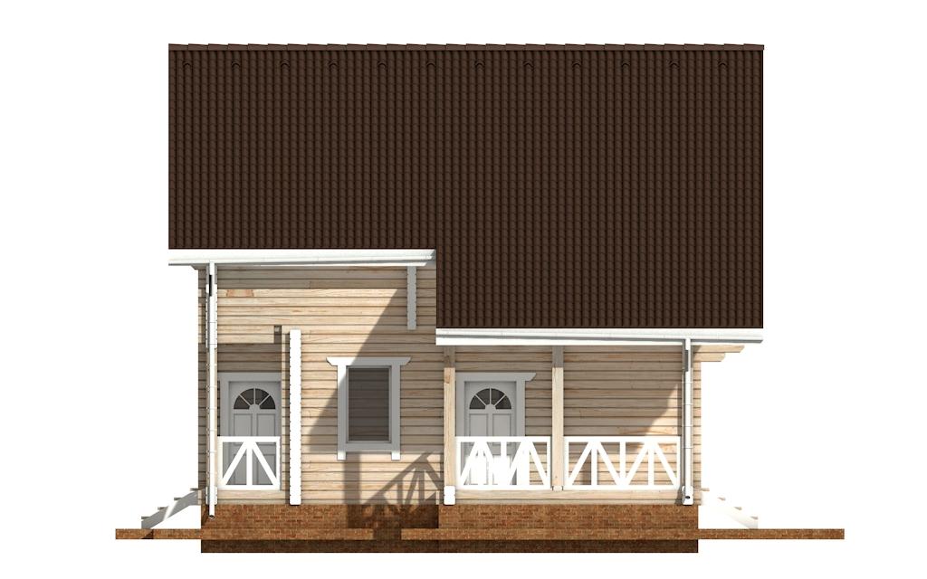 Фото #7: деревянный дом ПДБ-52 из клееного бруса купить за 12164000 (цена «Под ключ»)