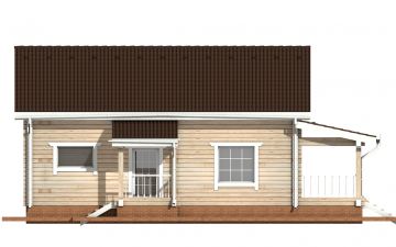 Фото #8: деревянный дом ПДБ-53 из клееного бруса купить за 4835000 (цена «Под ключ»)