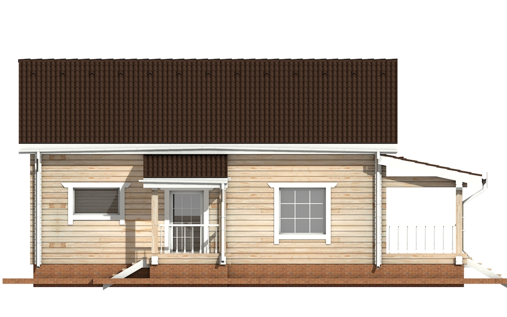 Фото #7: деревянный дом ПДБ-53 из клееного бруса купить за 4835000 (цена «Под ключ»)
