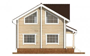Фото #8: деревянный дом ПДБ-35 из клееного бруса купить за 8016000 (цена «Под ключ»)