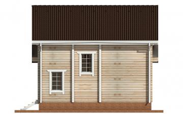 Фото #8: деревянный дом ПДБ-54 из клееного бруса купить за 6262000 (цена «Под ключ»)