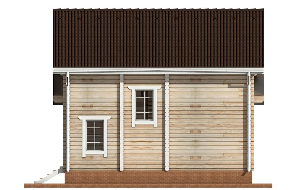 Фото #7: деревянный дом ПДБ-54 из клееного бруса купить за 6262000 (цена «Под ключ»)
