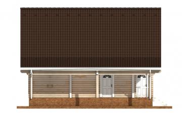 Фото #8: деревянный дом ПДБ-57 из клееного бруса купить за 7043000 (цена «Под ключ»)