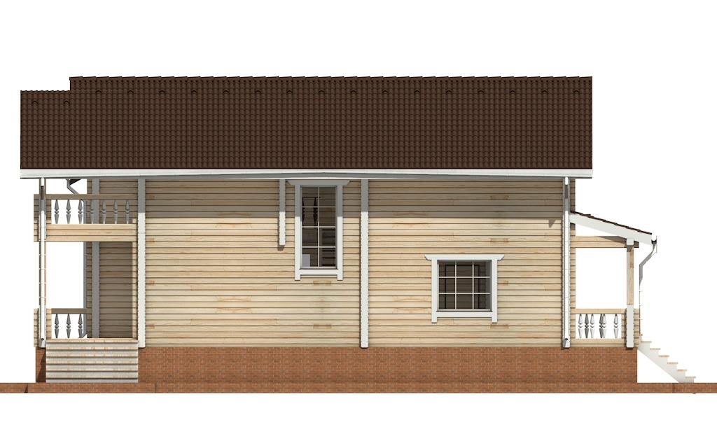 Фото #7: деревянный дом ПДБ-58 из клееного бруса купить за 10721000 (цена «Под ключ»)