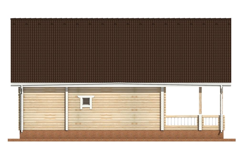 Фото #7: деревянный дом ПДБ-59 из клееного бруса купить за 10102000 (цена «Под ключ»)