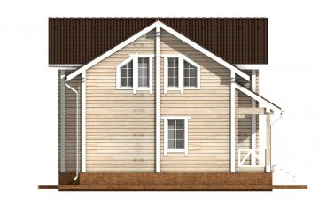 Фото #8: деревянный дом ПДБ-60 из клееного бруса купить за 10456000 (цена «Под ключ»)