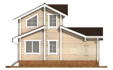 Фото #8: деревянный дом ПДБ-61 из клееного бруса купить за 10276000 (цена «Под ключ»)