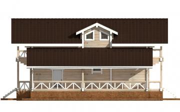 Фото #8: деревянный дом ПДБ-62 из клееного бруса купить за 10084000 (цена «Под ключ»)
