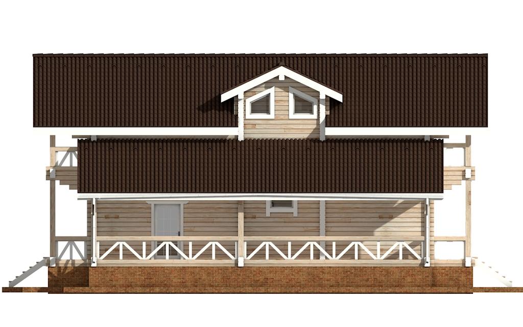 Фото #7: деревянный дом ПДБ-62 из клееного бруса купить за 10084000 (цена «Под ключ»)