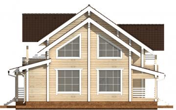 Фото #8: деревянный дом ПДБ-36 из клееного бруса купить за 14352000 (цена «Под ключ»)
