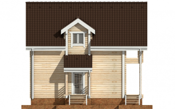 Фото #8: деревянный дом ПДБ-33 из клееного бруса купить за 9467000 (цена «Под ключ»)