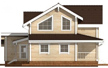 Фото #8: деревянный дом ПДБ-37 из клееного бруса купить за 14135000 (цена «Под ключ»)