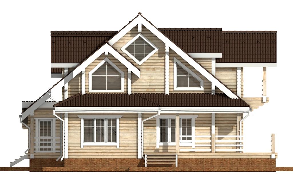 Фото #7: деревянный дом ПДБ-38 из клееного бруса купить за 15922000 (цена «Под ключ»)