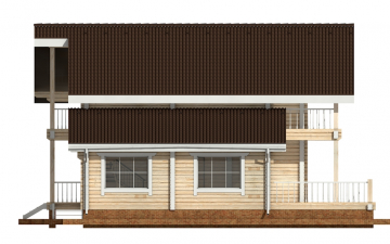 Фото #8: деревянный дом ПДБ-41 из клееного бруса купить за 12685000 (цена «Под ключ»)