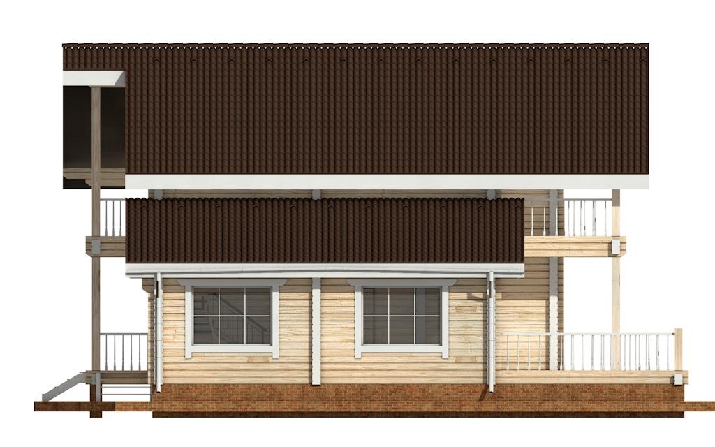 Фото #7: деревянный дом ПДБ-41 из клееного бруса купить за 12685000 (цена «Под ключ»)