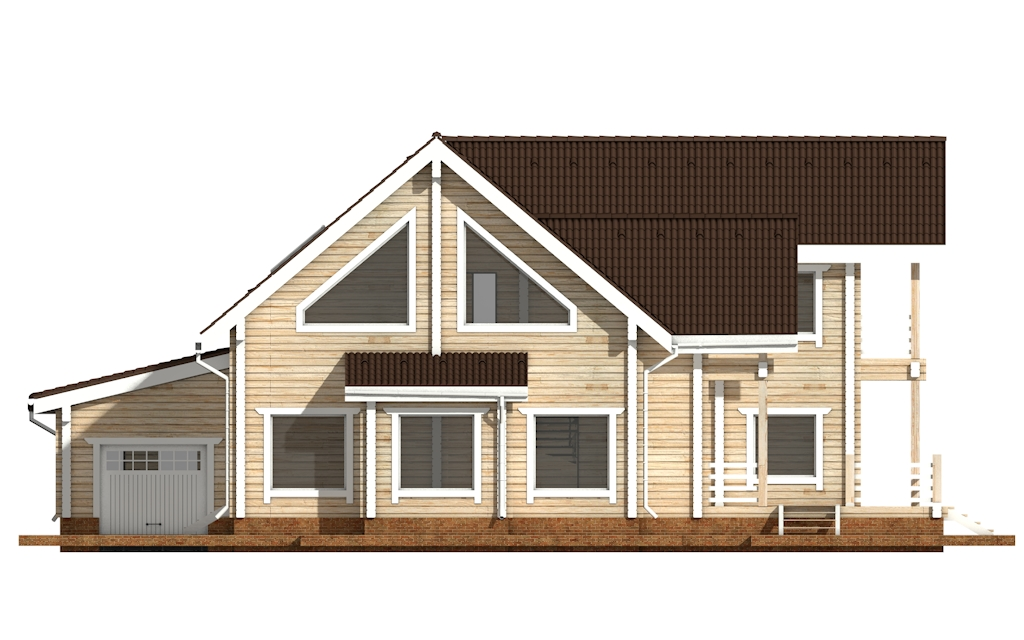 Фото #7: деревянный дом ПДБ-42 из клееного бруса купить за 17628000 (цена «Под ключ»)