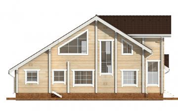 Фото #9: деревянный дом ПДБ-34 из клееного бруса купить за 13915000 (цена «Под ключ»)