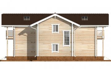 Фото #9: деревянный дом ПДБ-44 из клееного бруса купить за 14702000 (цена «Под ключ»)