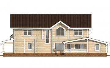 Фото #9: деревянный дом ПДБ-45 из клееного бруса купить за 18689000 (цена «Под ключ»)