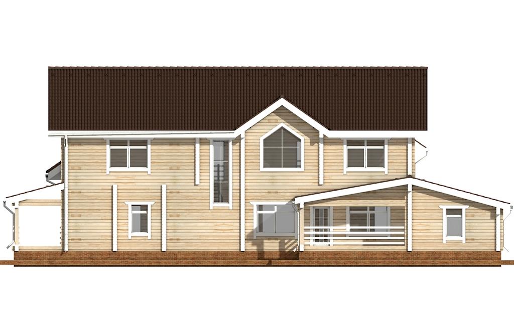 Фото #8: деревянный дом ПДБ-45 из клееного бруса купить за 18689000 (цена «Под ключ»)