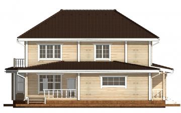 Фото #9: деревянный дом ПДБ-46 из клееного бруса купить за 17082000 (цена «Под ключ»)