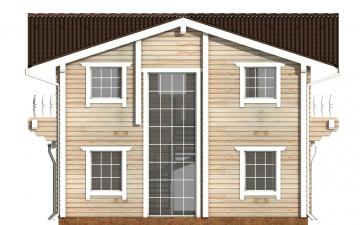 Фото #9: деревянный дом ПДБ-47 из клееного бруса купить за 6464000 (цена «Под ключ»)