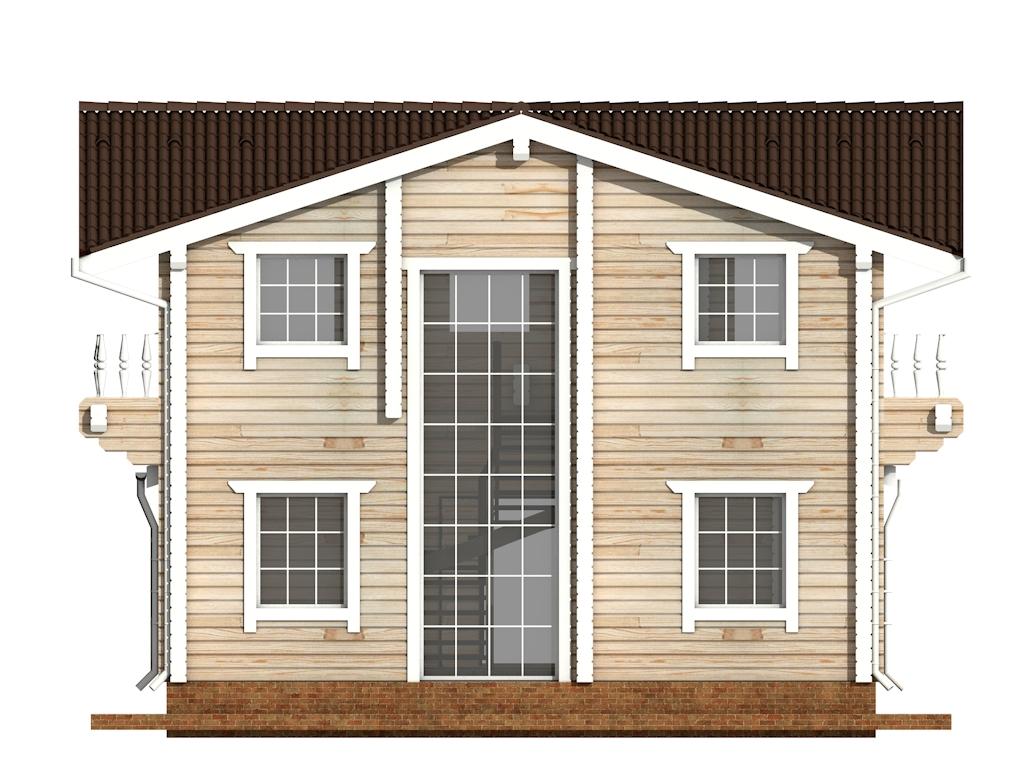 Фото #8: деревянный дом ПДБ-47 из клееного бруса купить за 6464000 (цена «Под ключ»)