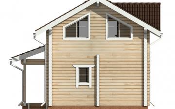 Фото #9: деревянный дом ПДБ-48 из клееного бруса купить за 4465000 (цена «Под ключ»)