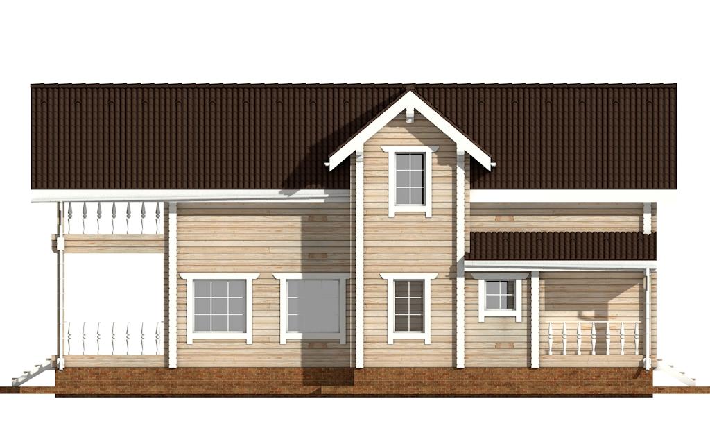 Фото #8: деревянный дом ПДБ-49 из клееного бруса купить за 9892000 (цена «Под ключ»)