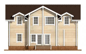 Фото #9: деревянный дом ПДБ-51 из клееного бруса купить за 15974000 (цена «Под ключ»)