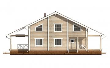 Фото #9: деревянный дом ПДБ-52 из клееного бруса купить за 12164000 (цена «Под ключ»)