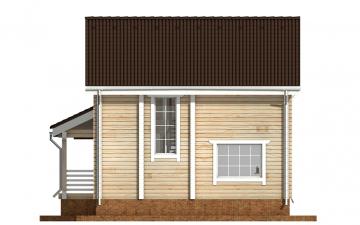 Фото #9: деревянный дом ПДБ-35 из клееного бруса купить за 8016000 (цена «Под ключ»)