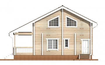 Фото #9: деревянный дом ПДБ-54 из клееного бруса купить за 6262000 (цена «Под ключ»)
