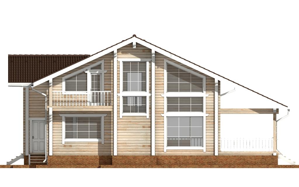 Фото #8: деревянный дом ПДБ-55 из клееного бруса купить за 11957000 (цена «Под ключ»)