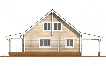 Фото #9: деревянный дом ПДБ-57 из клееного бруса купить за 7043000 (цена «Под ключ»)